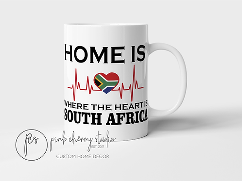 "Tasse "" Home is where the heart is - South Africa"""