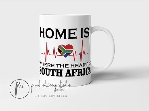 """Tasse """" Home is where the heart is - South Africa"""""""