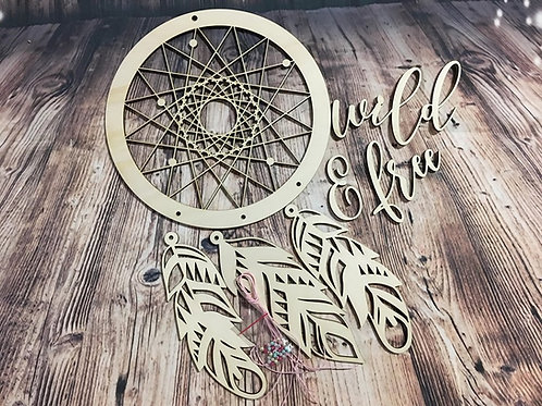 DIY - Dreamcatcher mit Federn