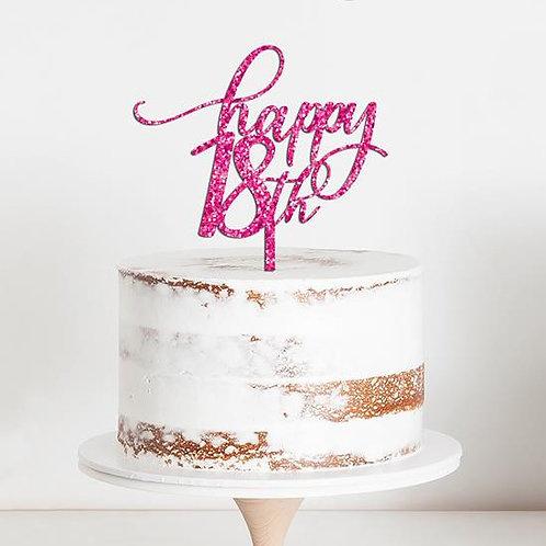 CakeTopper - Tortenstecker Geburtstag - Birthday happy 18th Style 3