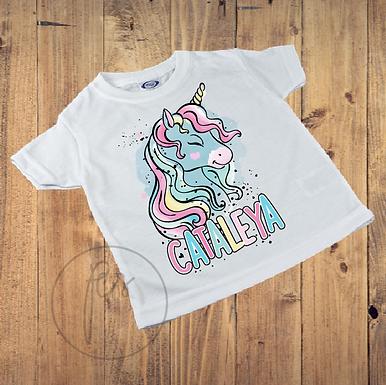 Kinder T-Shirt - Rainbow Unicorn - Einhorn - Personalisiert