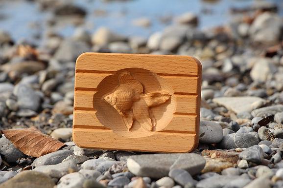 Seifenschale aus Holz - Fisch