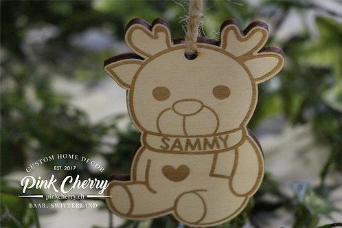 Weihnachtsbaum Deko - Baby Rudolph