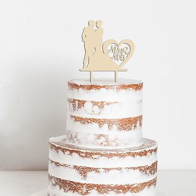 CakeTopper - Tortenstecker Mrs & Mrs Brautpaar - Hochzeit