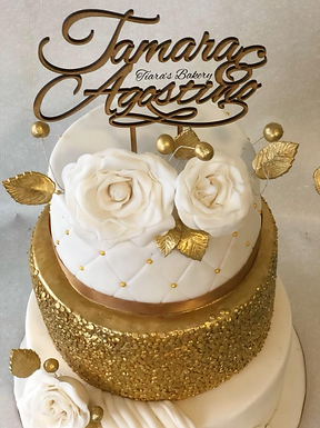"""CakeTopper - Tortenstecker """"Hochzeit - Namen"""""""