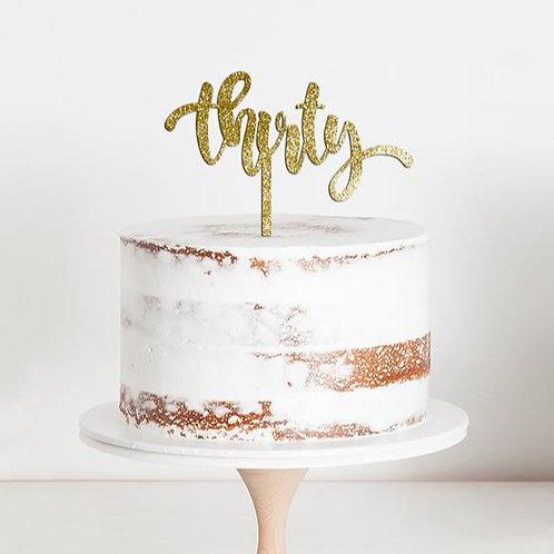 """CakeTopper - Tortenstecker Geburtstag """"thrity"""" Birthday"""