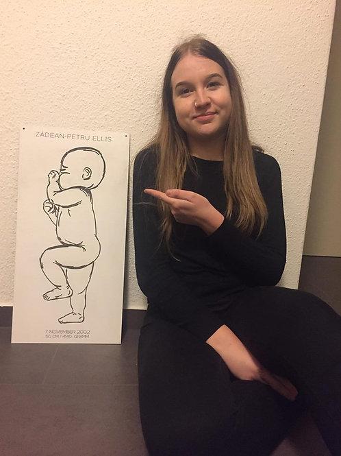 Geburtsschild - Mini Me