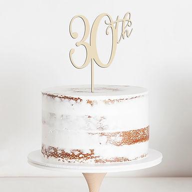 CakeTopper - Tortenstecker Birthday 30th - Geburtstag