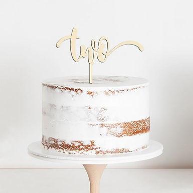 """CakeTopper - Tortenstecker Geburtstag """"two"""" Birthday"""
