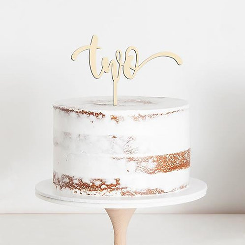 "CakeTopper - Tortenstecker Geburtstag ""two"" Birthday"