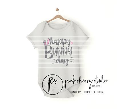 HAPPY BUNNY DAY - OSTERN - HASE  - Baby Body - Plotterdatei