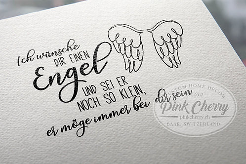 Holzstempel - Ich wünsche dir einen Engel..