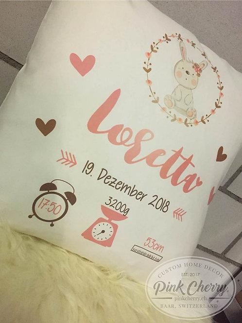 Kissen - Bunny - Personalisiert