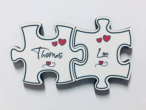 Puzzle Holz Magnete - Personalisiert (2 Stück)