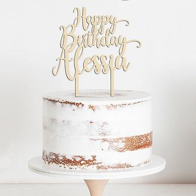 CakeTopper - Tortenstecker Happy Birthday Personalisiert mit Name