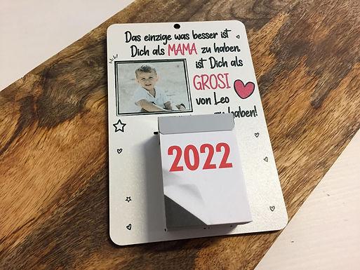 Personalisierter Kalender mit Foto und Individuellem Text 2022
