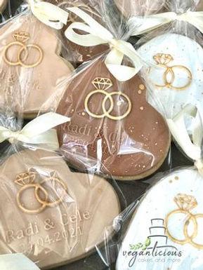 Hochzeit Ringe - Personalisiert Cookie Stamp - Fondant- / Kekse