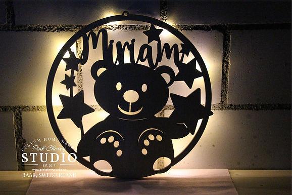 LED Nachtlicht Teddy mit Sternen