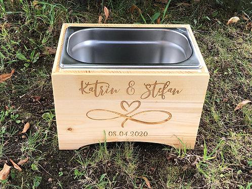 Getränke Chiller aus Holz - Personalisiert Hochzeit