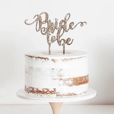 CakeTopper - Tortenstecker Bride to be - hochzeit - Wedding