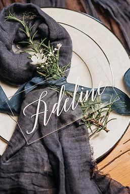 Tischdekoration Hochzeit - Acryl Namen Graviert