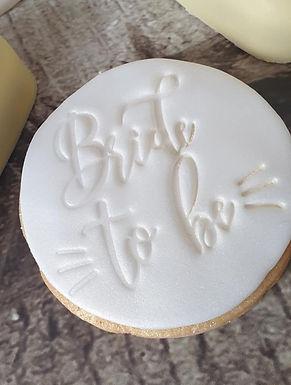 Bride to be - Hochzeit Cookie Stamp - Fondant- / Kekstempel
