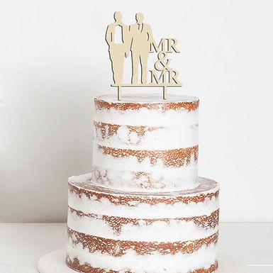 CakeTopper - Tortenstecker Mr & Mr Bräutigam & Bräutigam - Hochzeit