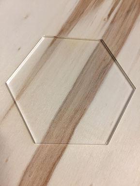 Acryl Rohling - Acrylic Blanks - Hexagon
