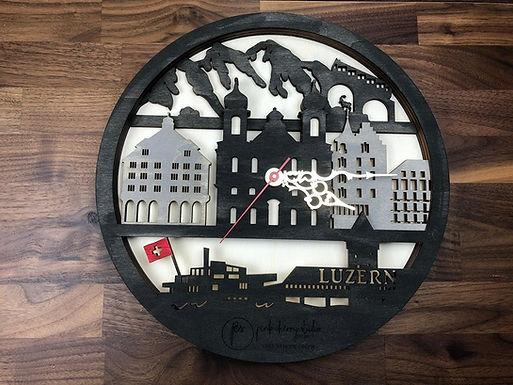 Luzern Skyline Uhr inkl Holzbox