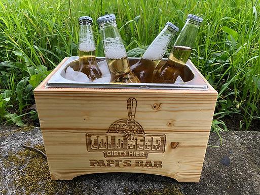 Getränke Chiller aus Holz - Personalisiert