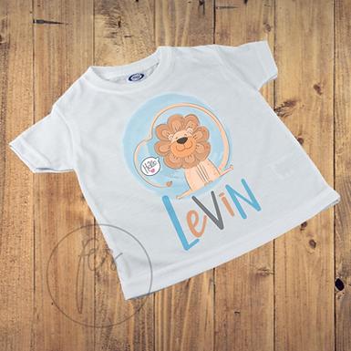Kinder T-Shirt bedruckt Löwe - Personalisiert - Kids T-Shirt