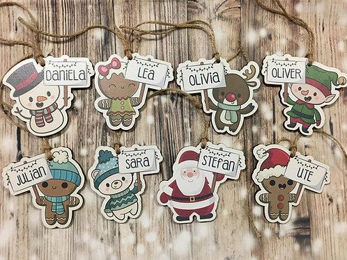 Weihnachtsbaum Anhänger Personalisiert