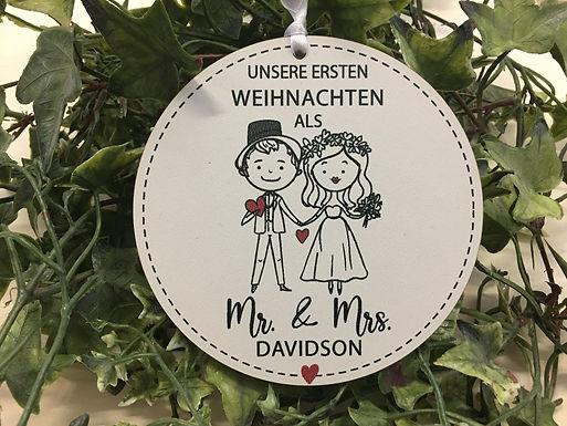 Unsere Erste Weihnacten als Mr & Mrs - Weihnachtsbaum Deko