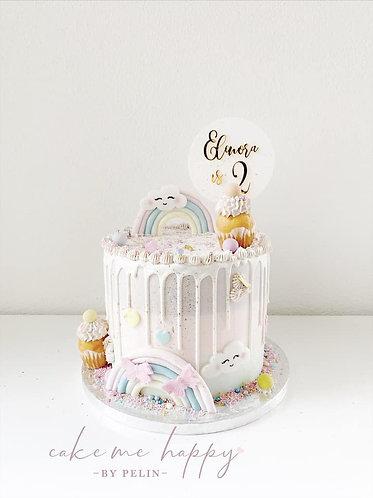 Geburtstag Personalisiert - Runde Platte - Cake Topper - Tortenstecker