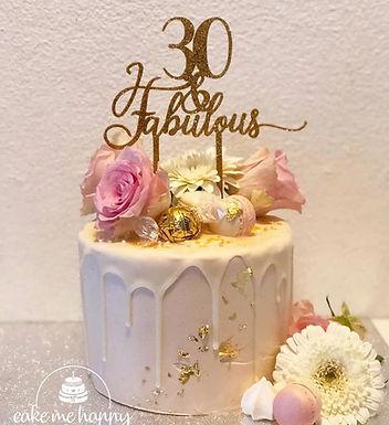 30 & FABULOUS CAKETOPPER – TORTENSTECKER