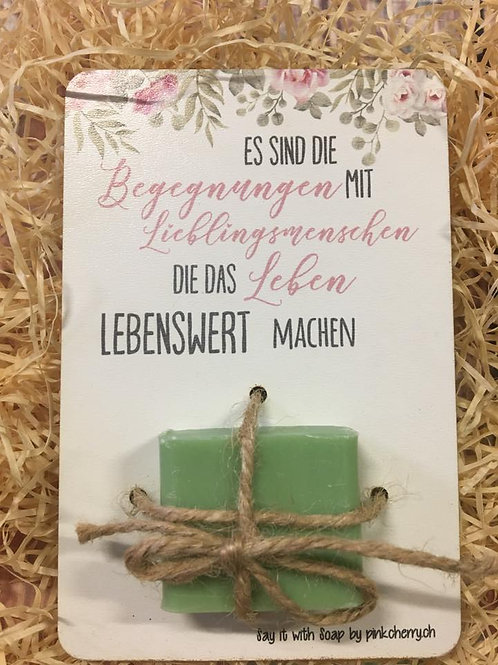 Say it with Soap - Holzkarte mit Seife - Lieblingsmenschen