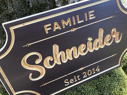 Vintage Stil - Familien Schild