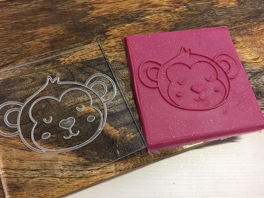 Cookie Stamp - Little Monkey - Positiv Druck