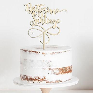CakeTopper - Tortenstecker Battesimo Di - Personalisiert - Krone