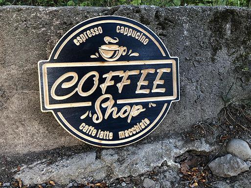 Coffee Shop Vintage Stil Schild