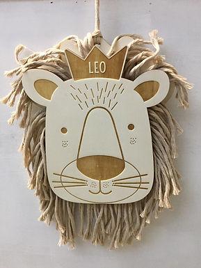 Kinderzimmer Deco - Moppy der Löwe - Personalisiert