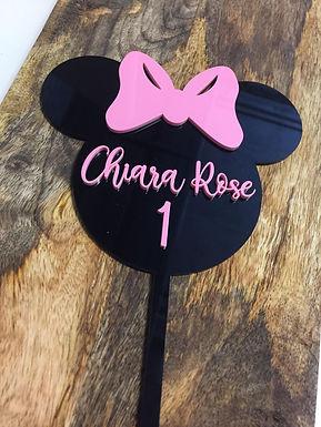 Minnie Mouse - Geburtstag - Birthday  Cake Topper - Tortenstecker