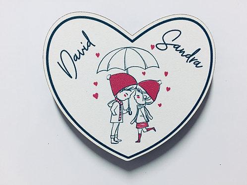 Herz Holz Magnet - Liebe - Valentinstag - Personalisiert