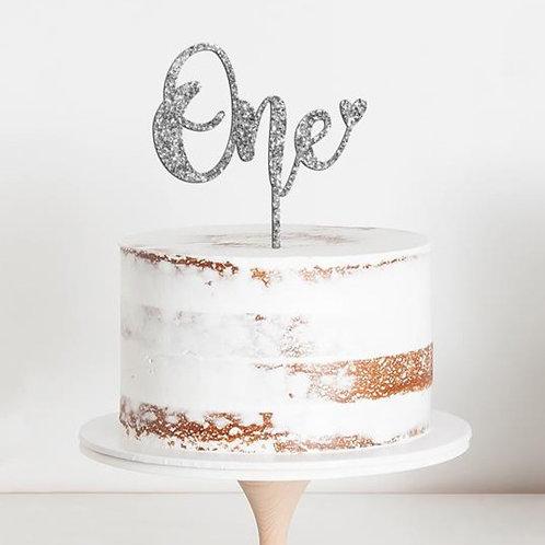 """CakeTopper - Tortenstecker Geburtstag """"One"""" Birthday"""