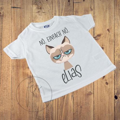 Kinder T-Shirt Grumpy Cat - NÖ. EINFACH NÖ - Personalisiert