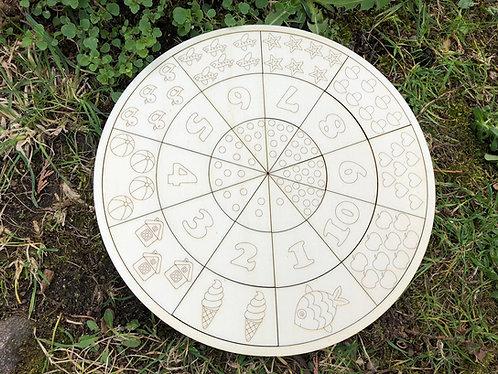DIY Pädagogisches Puzzle - Zahlen Lernen