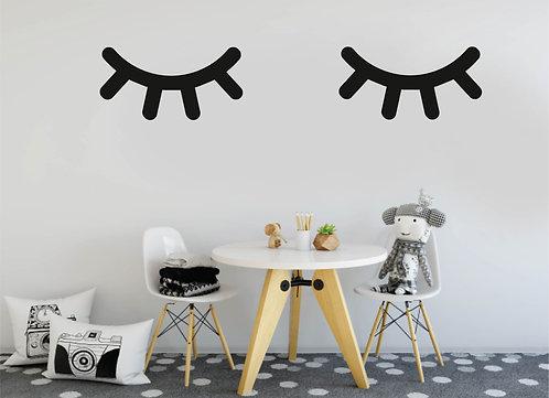 Holz Wimpern - Kinderzimmer Deko