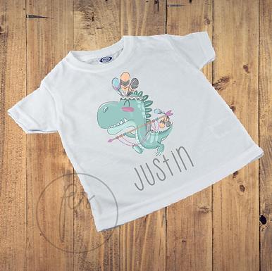 Kinder T-Shirt - Dino - Dinosaurier - Indianer Style - Boho - Personalisiert
