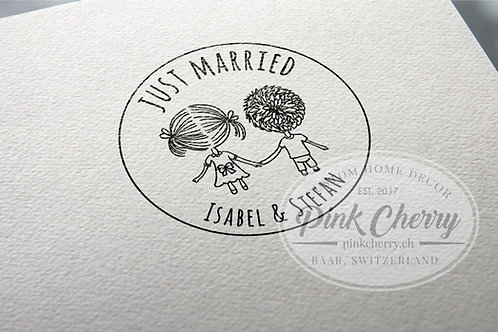 Just Married Stempel - Liebespärchen