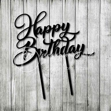 CakeTopper - Tortenstecker Happy Birthday 2
